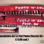 Catadiottro paraurti post. Fiat Punto Classic 03>10 dx/sx