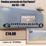 Pantina / aletta parasole dx Fiat Punto 1° serie 93 > 98