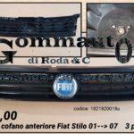 Griglia cofano anteriore Fiat Stilo 3 porte 01 > 07