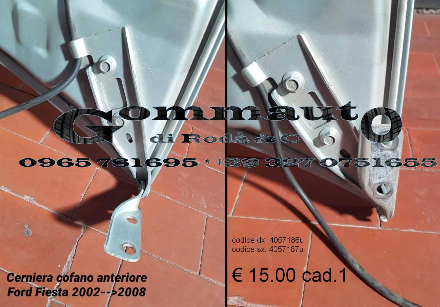 CERNIERA COFANO ANTERIORE DESTRO OPEL CORSA D 06/>