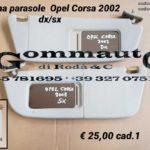 Pantina aletta parasole Opel Corsa B  97 > 03