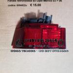 Fanale retronebbia sinistro Opel Meriva A 03 > 06