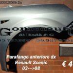 Parafango anteriore destro Renault Scenic 03 > 08