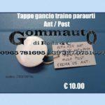 Tappo gancio traino paraurti anteriore e posteriore Alfa / Fiat / Lancia