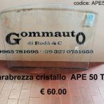 Parabrezza cristallo curvo Piaggio APE 50 TM