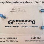 Vetro apribile posteriore dx/sx Fiat 126 vecchio tipo