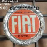 Fregio in alluminio con vite centrale Fiat vari tipi Ø 72 mm