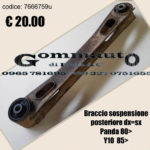 Braccio sospensione posteriore dx=sx Fiat Panda 80 >  Autobianchi Y10 85>