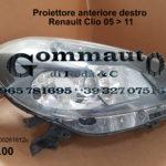 Proiettore anteriore destro Renault Clio 05 > 11