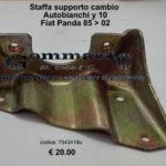 Staffa supporto cambio Autobianchi Y 10/ Fiat Panda 85 > 02
