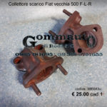 Collettore scarico Fiat vecchia 500 F-L-R / 126