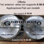 Fari anteriori Elma con supporto Fiat vari modelli (131, 132, 128 coupè....)