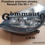 Proiettore anteriore sinistro Renault Clio 05 > 11