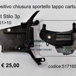 Dispositivo chiusura sportello tappo carburante Fiat Stilo