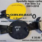 Sportello tappo carburante Fiat Stilo 3 porte 01 > 10