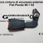 Attacco cintura di sicurezza anteriore sx Fiat Panda 86 > 02