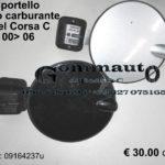 Sportello tappo carburante Opel Corsa C 00 > 06