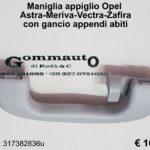 Maniglia appiglio Opel con gancio appendi abiti
