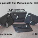 Serie pannelli Fiat Punto prima serie 5 porte 93 > 99