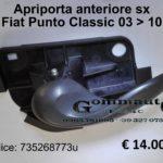 Maniglia apriporta anteriore sx Fiat Punto 188