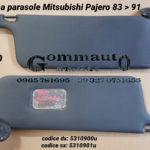 Pantina / aletta parasole dx/sx Mitsubishi Pajero 83 > 91