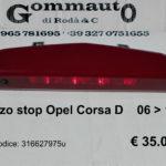 Terzo stop Opel Corsa D  06 > 14