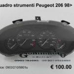 Quadro strumenti Peugeot 206  3p  98 >