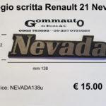 Fregio scritta Renault 21 Nevada mm 138 x 32