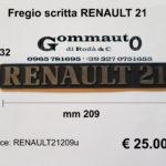 Fregio scritta Renault 21  mm 209 x 32