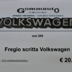 Fregio scritta Volkswagen mm 205x26