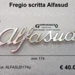 Fregio scritta Alfa Romeo '' Alfasud ''  mm 174 x 55