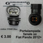 Portalampada fanale sx Fiat Panda 2012 >