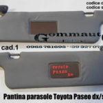 Pantina / aletta parasole dx/sx Toyota Paseo 96>