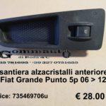 Pulsantiera alzacristalli anteriore dx Fiat Grande Punto 06 > 12