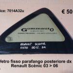 Vetro fisso parafango posteriore lato dx Renault Scènic 03 > 06