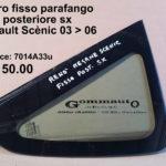 Vetro fisso parafango posteriore lato sx Renault Scènic 03 > 06