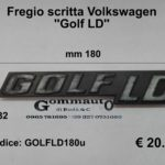 Fregio scritta Volkswagen ''GOLF LD'' mm 180 x 32
