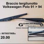 Braccio tergilunotto Volkswagen Polo 91 > 94