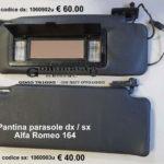 Pantina / aletta parasole dx / sx Alfa Romeo 164