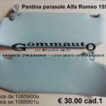 Pantina / aletta parasole destra/ sinistra  Alfa Romeo 155   92>97