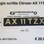 Fregio scritta Citroen '' AX 11 TZX ''  mm 173x34