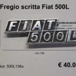 Fregio scritta Fiat 500 L 4203587  mm 136x46