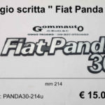Fregio scritta '' Fiat Panda 30 ''  mm 214 x 70