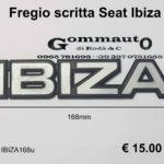 Fregio scritta Seat '' Ibiza''  mm 168x36