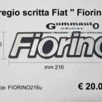 Fregio scritta Fiat '' Fiorino '' mm 216 x 55