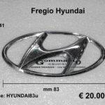 Fregio logo '' Hyundai '' mm 83 x 41