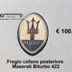 Fregio cofano posteriore Maserati Biturbo 422