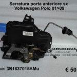 Serratura porta anteriore sx Volkswagen Polo 01 > 09