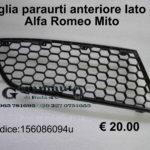 Griglia paraurti anteriore lato dx Alfa Romeo Mito