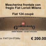 Mascherina/griglia frontale Fiat 124 Coupè con fregio Fiat Lorioli Milano